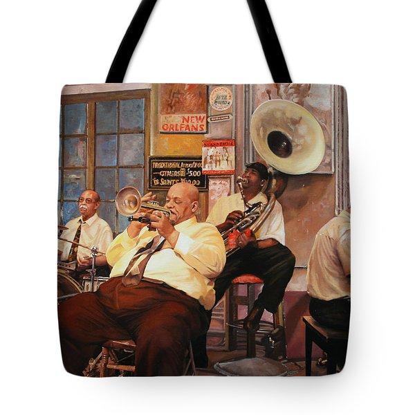 Il Quintetto Tote Bag by Guido Borelli