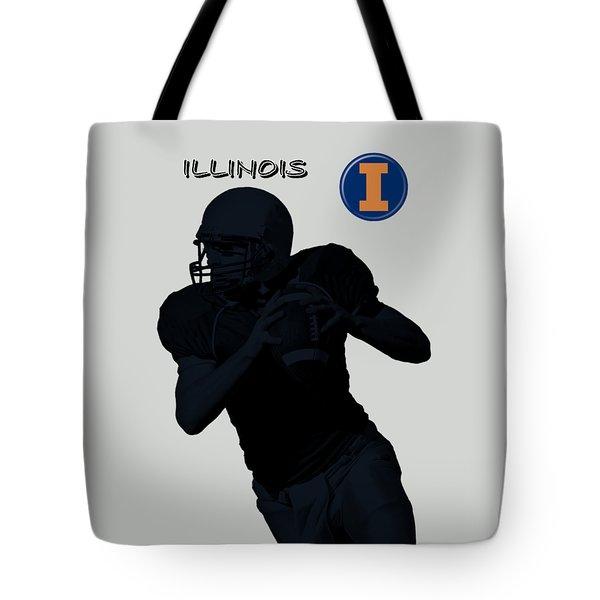 Illinois Football Tote Bag by David Dehner