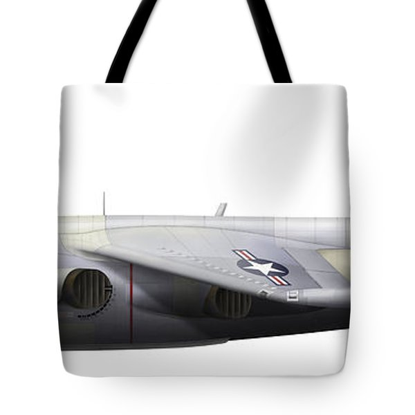Illustration Of A Hawker P1127 Kestrel Tote Bag by Chris Sandham-Bailey