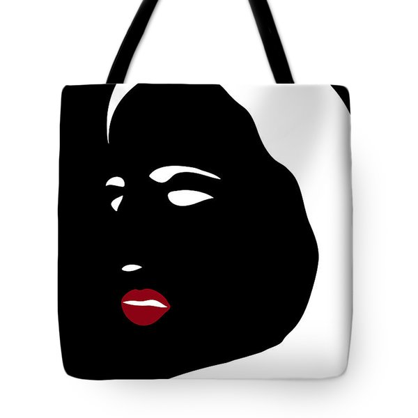 Illustration Of A Woman In Fashion Tote Bag by Frank Tschakert