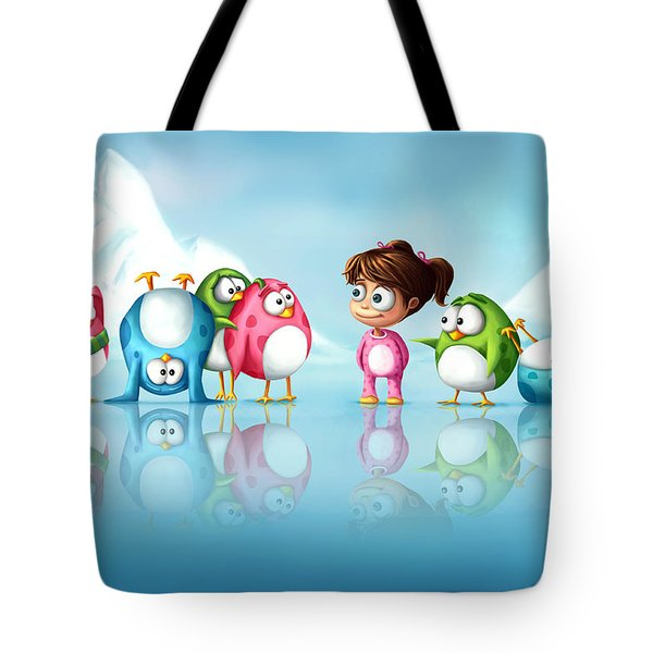 Im A Penguin Too Tote Bag by Tooshtoosh