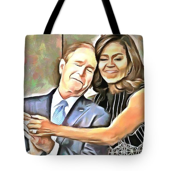 Imagine All The People Tote Bag by Wayne Pascall