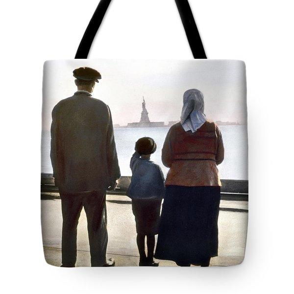 Immigrants: Ellis Island Tote Bag by Granger