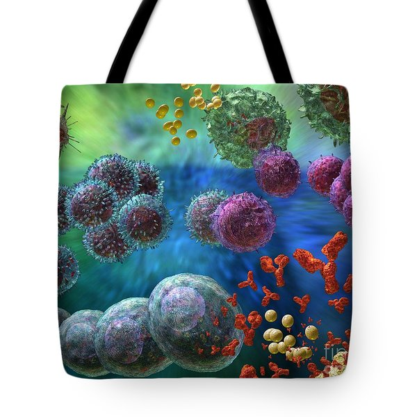 Immune Response Antibody 4 Tote Bag by Russell Kightley