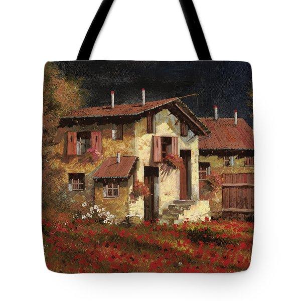 In Campagna La Sera Tote Bag by Guido Borelli