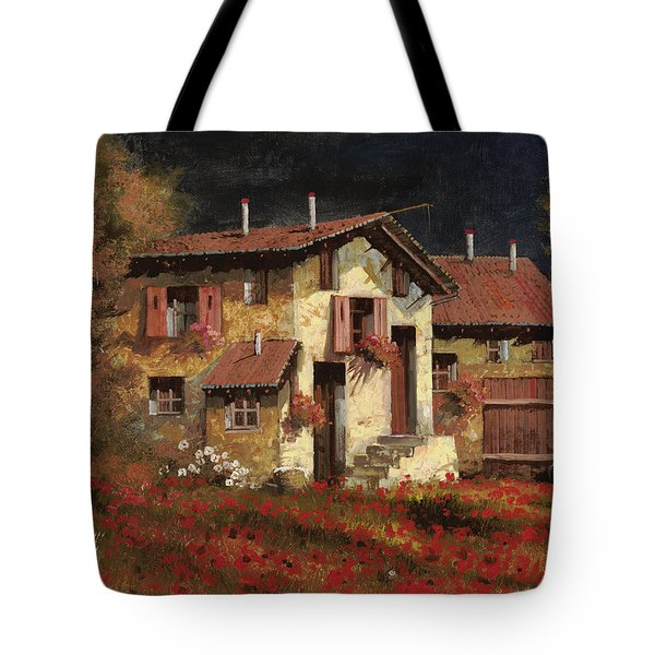 in campagna la sera Tote Bag by Guido Borelli