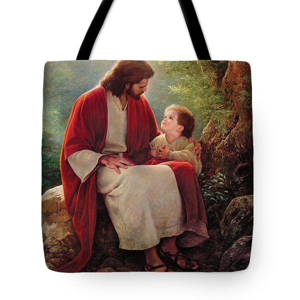 In His Light Tote Bag by Greg Olsen