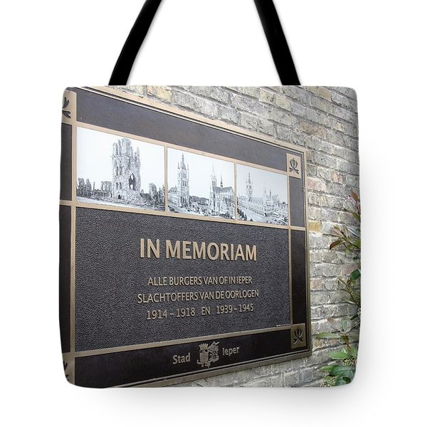 Tote Bag featuring the photograph In Memoriam - Ypres by Travel Pics