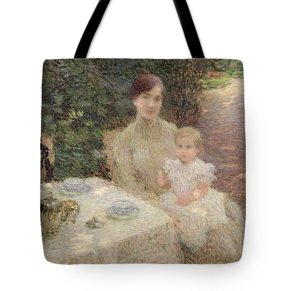 In The Garden Tote Bag by Ernest Joseph Laurent