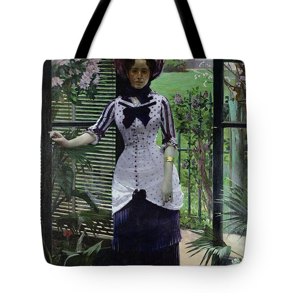 In The Greenhouse Tote Bag by Albert Bartholome