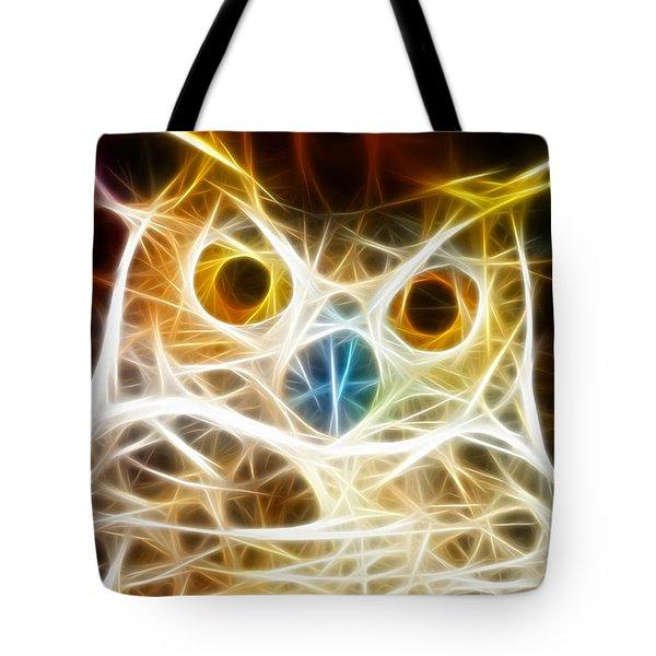 Incredible Owl Portrait Tote Bag by Pamela Johnson