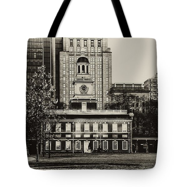 Independence Hall Tote Bag by Bill Cannon