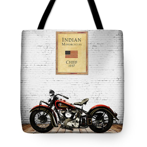 Indian Chief 1937 Tote Bag by Mark Rogan
