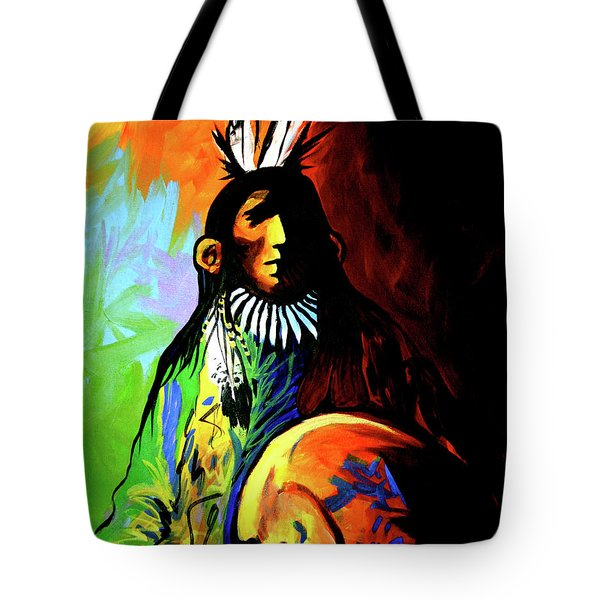 Indian Shadows Tote Bag by Lance Headlee