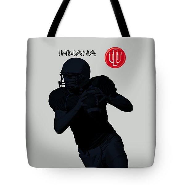 Indiana Football Tote Bag by David Dehner