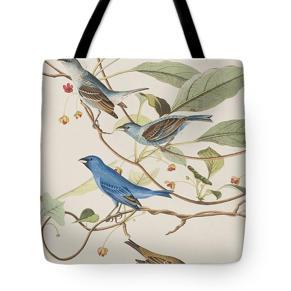 Indigo Bird Tote Bag by John James Audubon