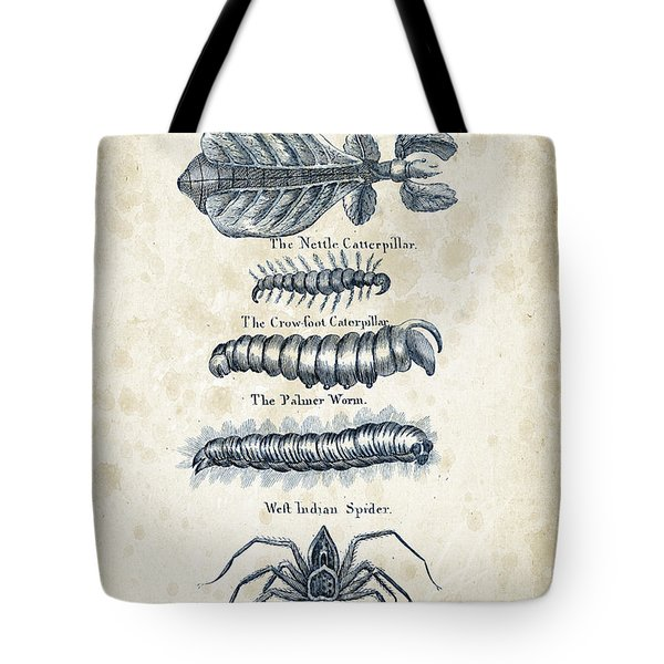 Insects - 1792 - 17 Tote Bag by Aged Pixel