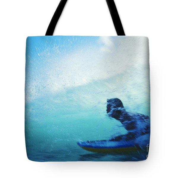 Inside The Wave Tote Bag by Bob Abraham - Printscapes