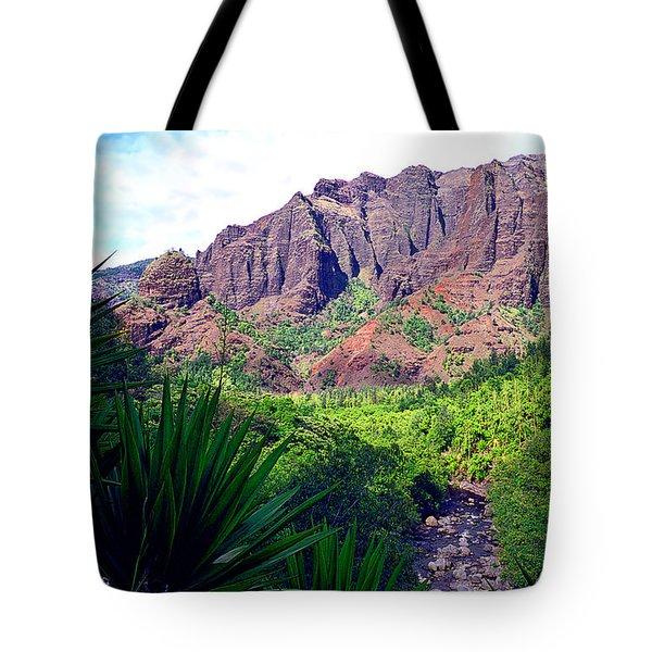 Inside Waimea Canyon Tote Bag by Kevin Smith