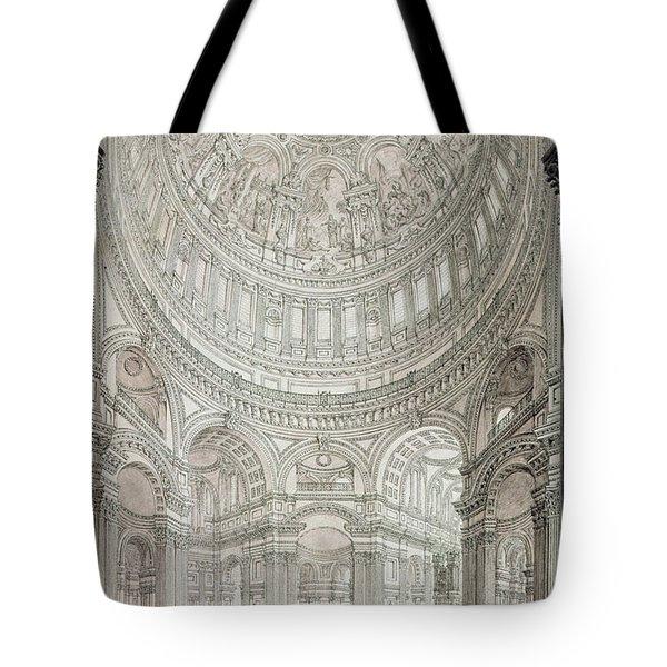 Interior Of Saint Pauls Cathedral Tote Bag by John Coney