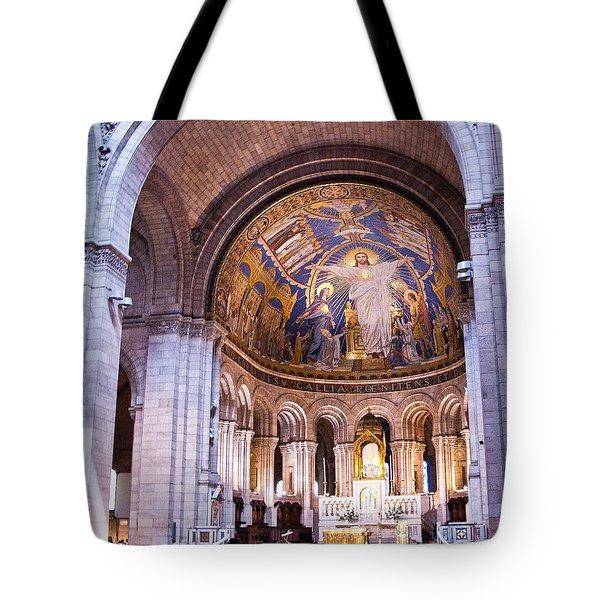 Interior Sacre Coeur Basilica Paris France Tote Bag by Jon Berghoff