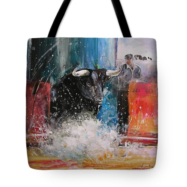 Into The Arena Tote Bag by Miki De Goodaboom