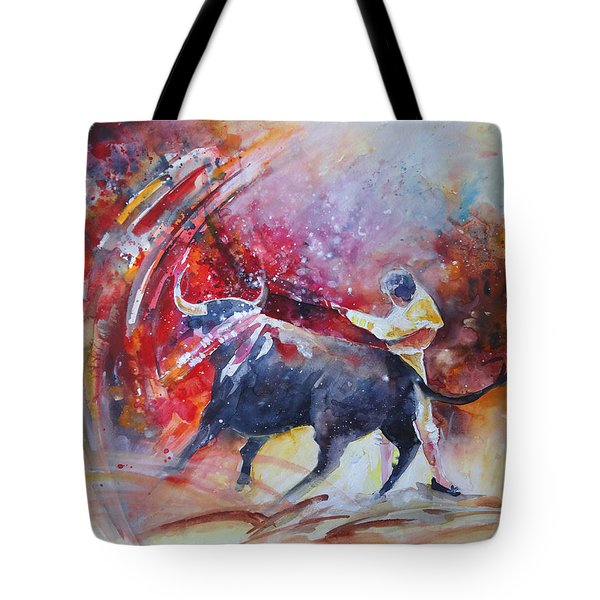 Into The Red Tote Bag by Miki De Goodaboom