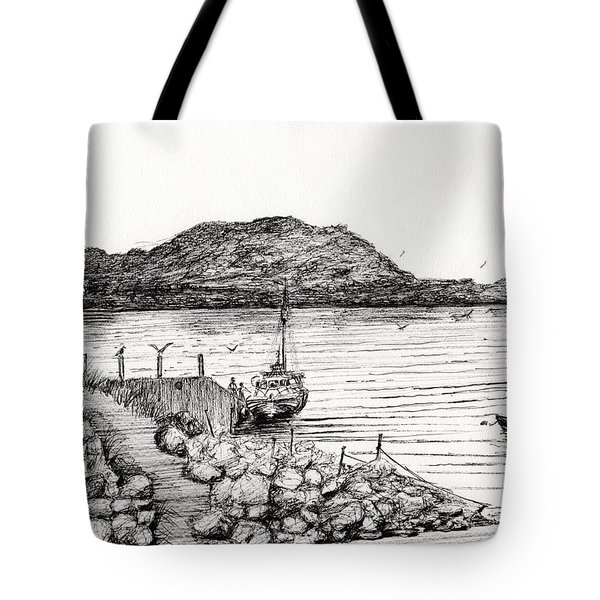 Iona From Mull Tote Bag by Vincent Alexander Booth