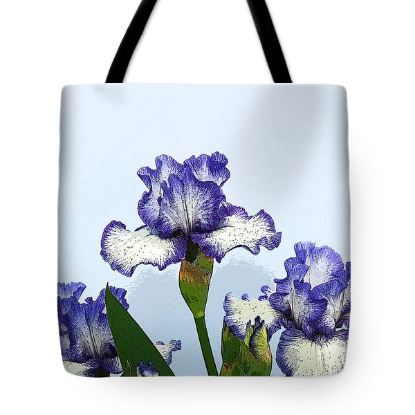 Iris 15 Tote Bag by Allen Beatty