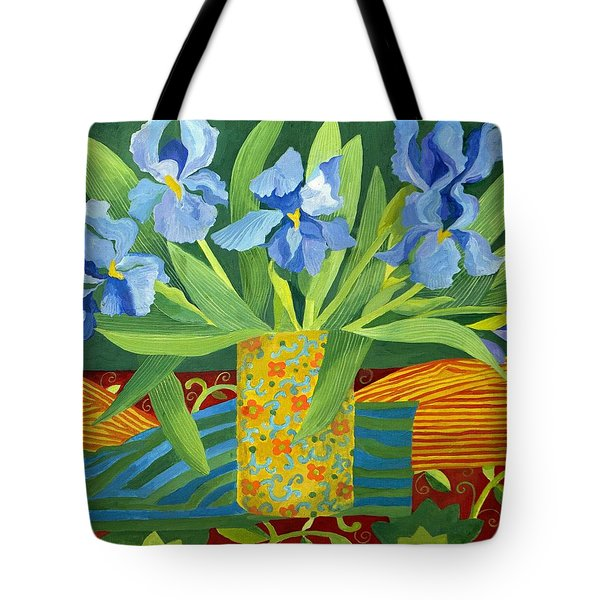 Iris Tote Bag by Jennifer Abbot