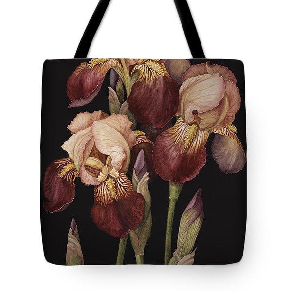 Irises Tote Bag by Jenny Barron