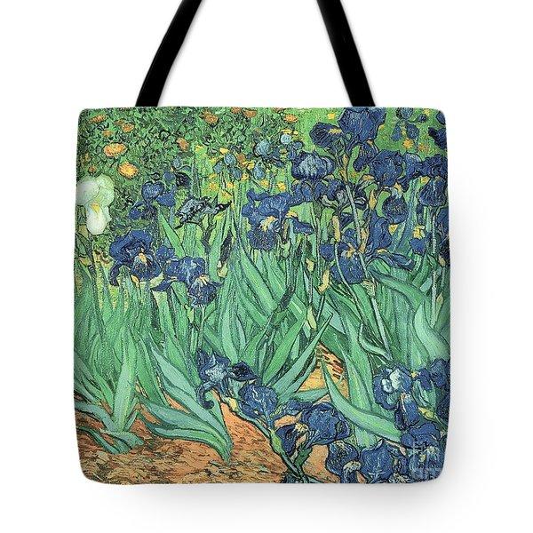 Irises Tote Bag by Vincent Van Gogh