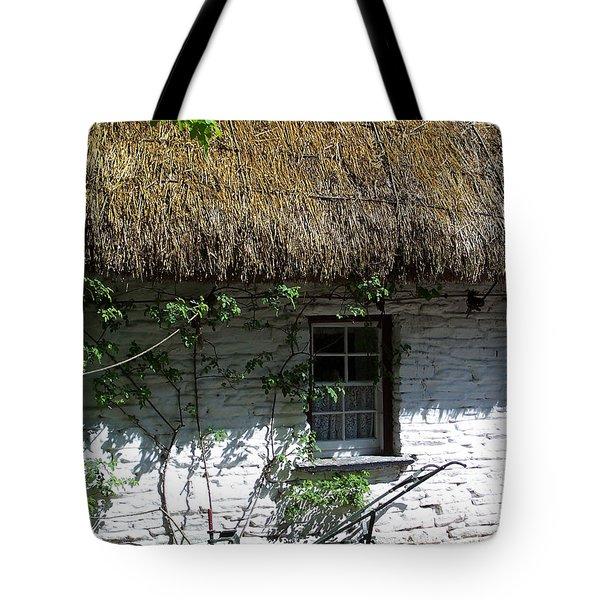 Irish Farm Cottage Window County Cork Ireland Tote Bag by Teresa Mucha