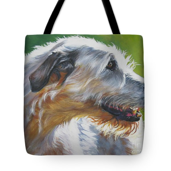 Irish Wolfhound Beauty Tote Bag by L A Shepard