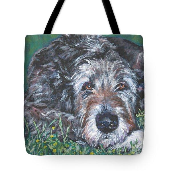 Irish Wolfhound Tote Bag by Lee Ann Shepard