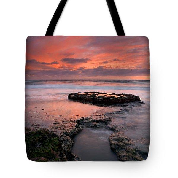 Isle Of The Setting Sun Tote Bag by Mike  Dawson
