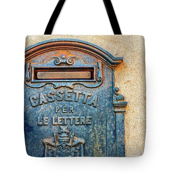 Italian Mailbox Tote Bag by Silvia Ganora