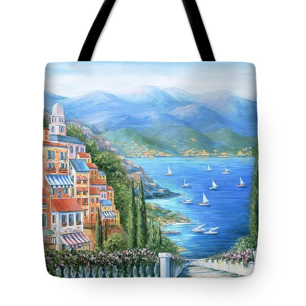 Italian Village By The Sea Tote Bag by Marilyn Dunlap
