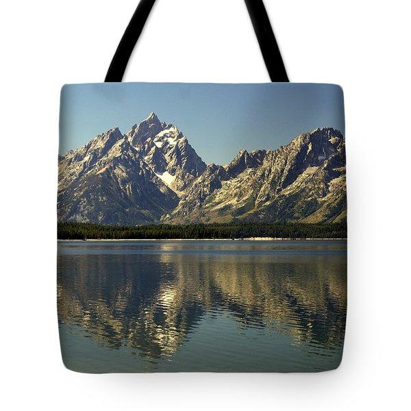 Jackson Lake 2 Tote Bag by Marty Koch