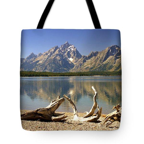 Jackson Lake 3 Tote Bag by Marty Koch