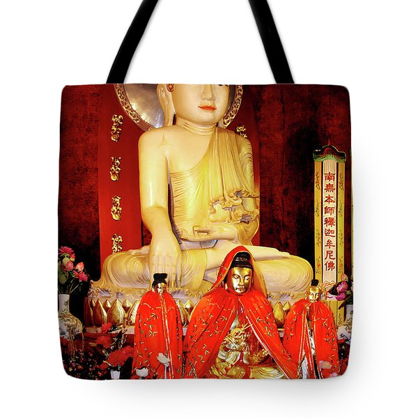 Jade Buddha Jing'an Temple Shanghai Tote Bag by Christine Till