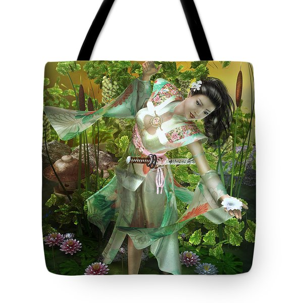 Jade Tote Bag by Mary Hood