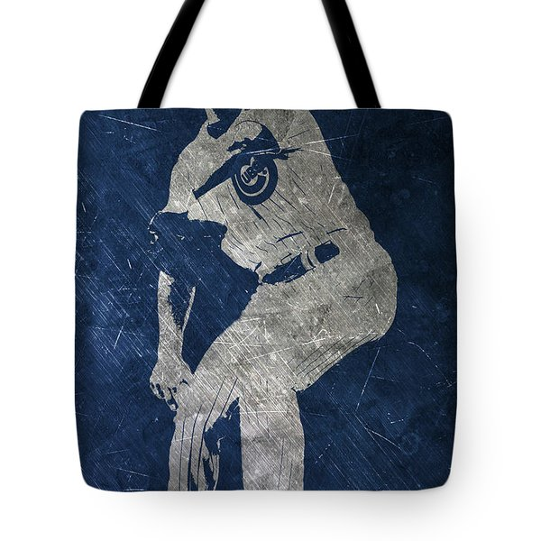 Jake Arrieta Chicago Cubs Art Tote Bag by Joe Hamilton