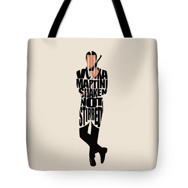 James Bond Tote Bag by Ayse Deniz