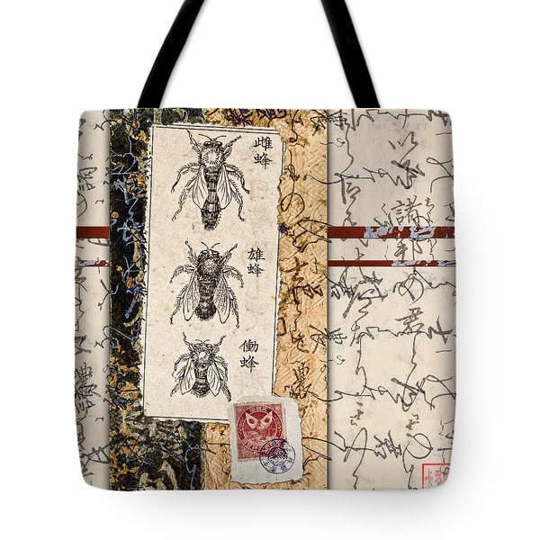 Japanese Bees Tote Bag by Carol Leigh