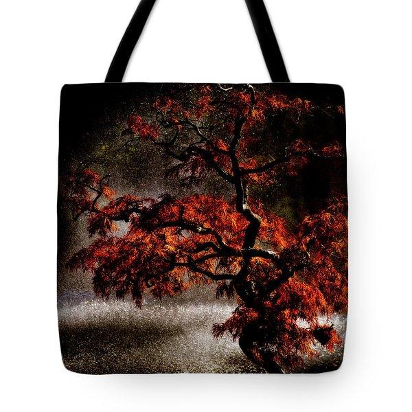 Japanese Maple Tote Bag by Venetta Archer