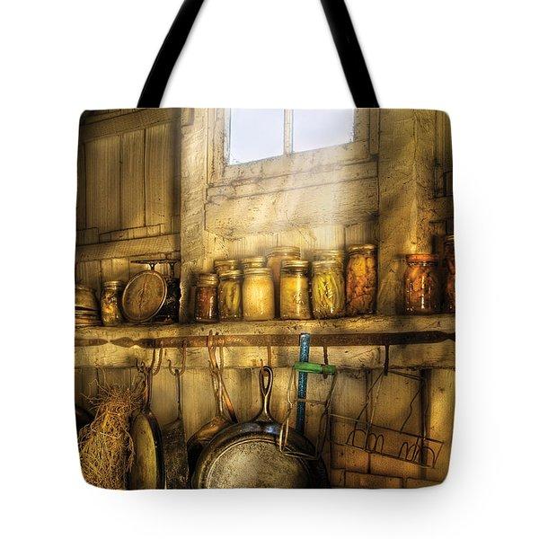 Jars - Winter Preserves  Tote Bag by Mike Savad