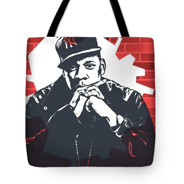 Jay Z Graffiti Tribute Tote Bag by Dan Sproul