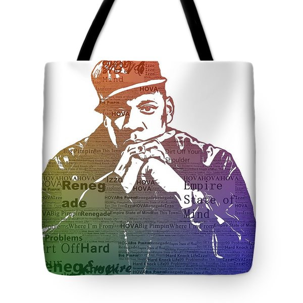 Jay Z Typography Tote Bag by Dan Sproul