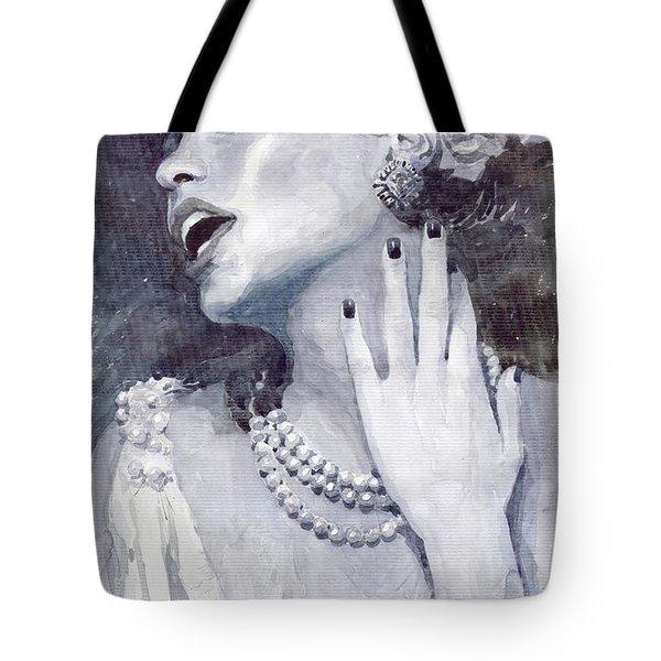 Jazz Billie Holiday Tote Bag by Yuriy  Shevchuk
